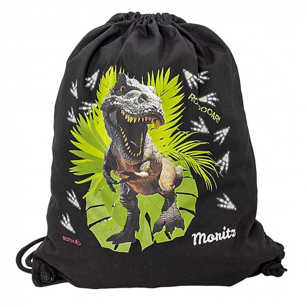 Turnbeutel T-Rex, black