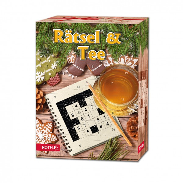Rätsel & Tee-Adventskalender Bio Tee