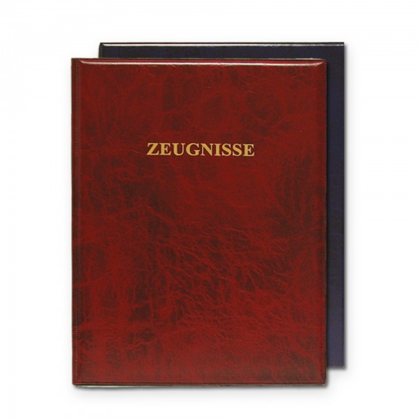 Zeugnisringbuch, A4, Kunststoff, wattiert, ohne Einlagen, Dunkelrot