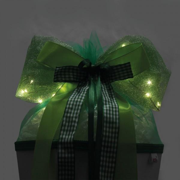 "LED-Schleife ""Green Lights"", ca. 50x23 cm"