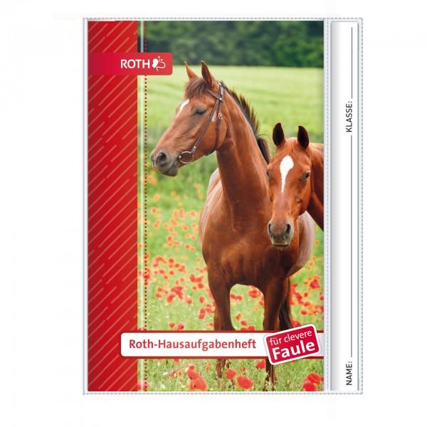 Roth-Hausaufgabenheft Pferde für clevere Faule - A5