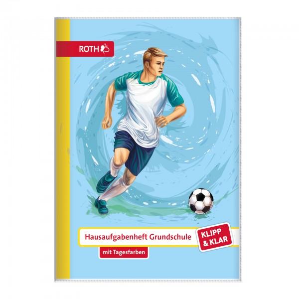 Klipp&Klar Grundschulaufgabenheft Fußball mit Tagesfarben