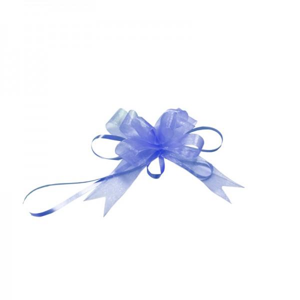 "Organzaschleife ""Light"", Ø 10 cm, blau"