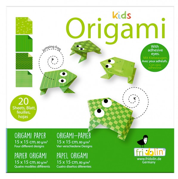 Kids Origami; Frosch