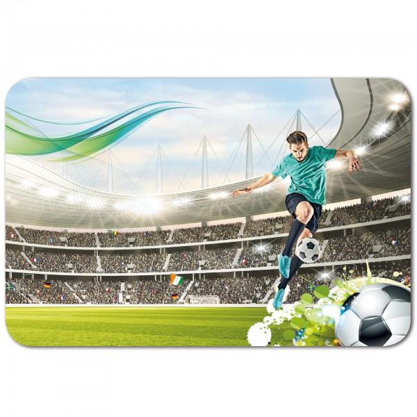 Schreibtischunterlage Fußballstar, 59x39 cm, mit Anti-Rutsch-Beschichtung