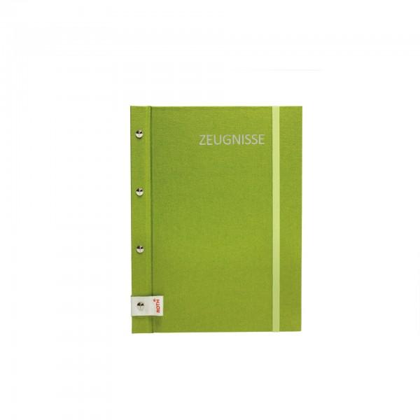 Zeugnismappe Metallium mit Buchschrauben, A4, 12 Einlagen, Green