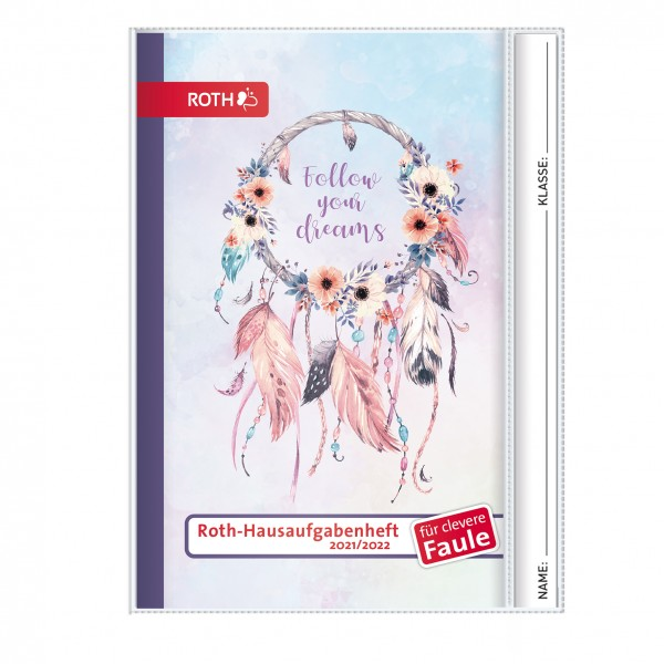 Roth-Hausaufgabenheft Superteens Dreams für clevere Faule - A5 mit Kalendarium