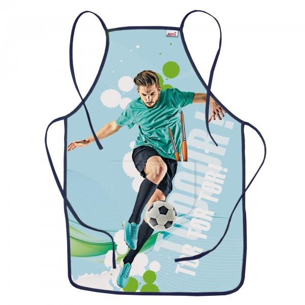 Kinderschürze Fußballstar, ca. 40x60 cm, zum Malen und Basteln, 100% Polyester