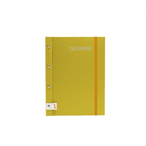 Zeugnismappe Metallium mit Buchschrauben, A4, 12 Einlagen, Gold