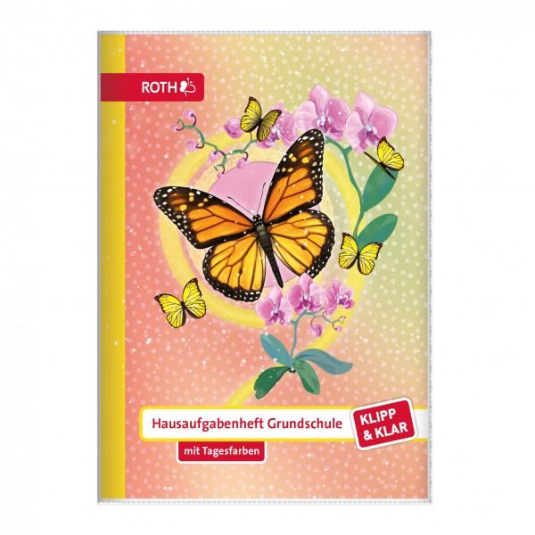 Klipp&Klar Grundschulaufgabenheft Schmetterling mit Tagesfarben