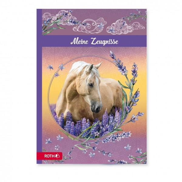 Zeugnismappe mit Design, A4, 10 Einlagen, Pferdeträume