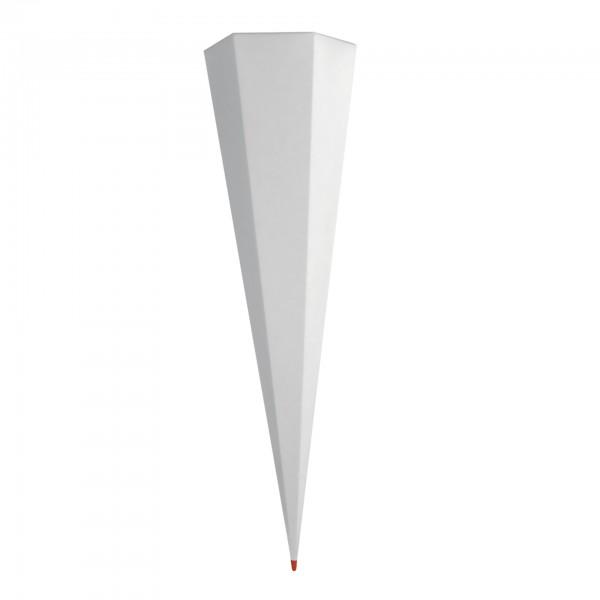 Rohling grau, ohne Verschluss, 100 cm, eckig, Rot(h)-Spitze