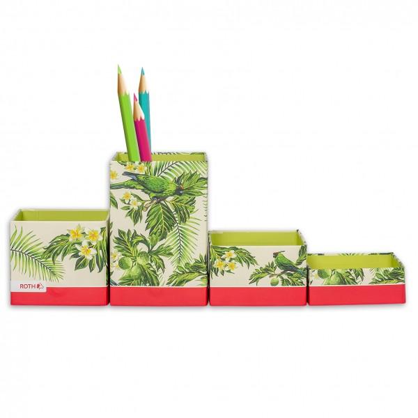 Stifteköcher, Dschungel, 8x8x2 - 12 cm