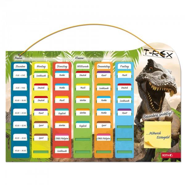 Klipp&Klar-Stundenplan Steck Fix, A3, Tyrannosaurus