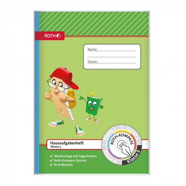 Hausaufgabenheft Roth Kompass 3. Klasse, A5