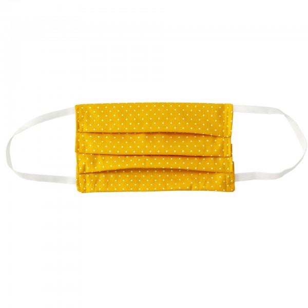Stoffmaske für Erwachsene - gelb mit Punkten