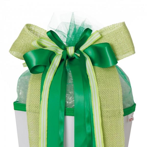 "Schleife ""Fresh Green"", ca. 50x23 cm, 70% Polyester, 20% Polyamid, 10% Stroh"