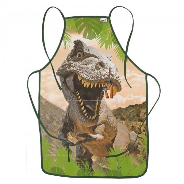 Kinderschürze Tyrannosaurus, ca. 40x60 cm, zum Malen und Basteln, 100% Polyester