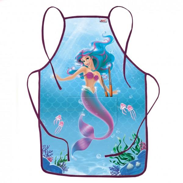 Kinderschürze Meerjungfrau, ca. 40x60 cm, zum Malen und Basteln, 100% Polyester