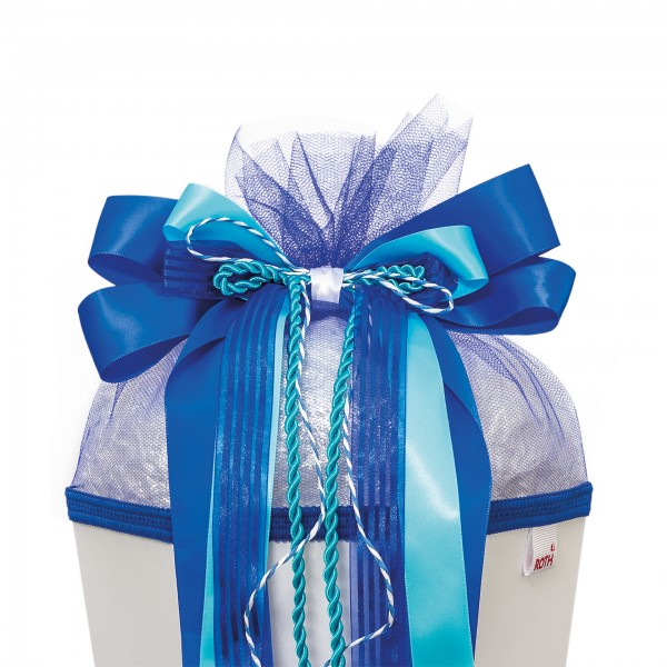 """Schleife """"Blue Dabadu"""", ca. 50x23 cm, 80% Polyester, 20% Nylon"""