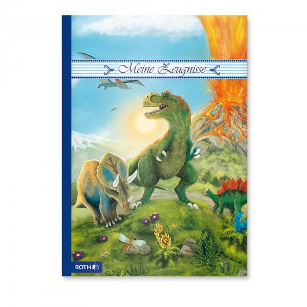 Zeugnismappe mit Design, A4, 10 Einlagen, T-Rex