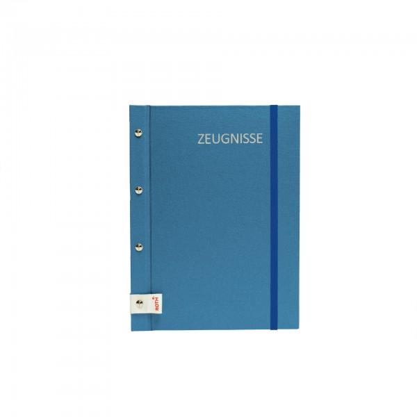 Zeugnismappe Metallium mit Buchschrauben, A4, 12 Einlagen, Blue