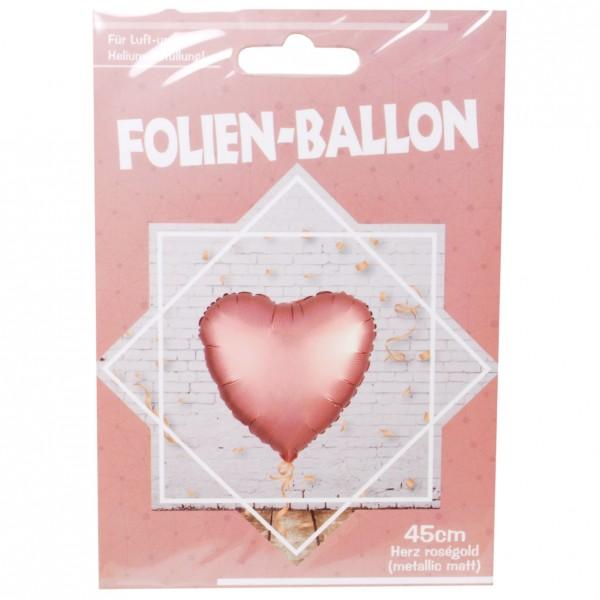 Folien-Herz-Ballon, matt-roségold