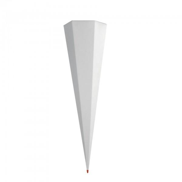 Rohling grau, ohne Verschluss, 85 cm, eckig, Rot(h)-Spitze
