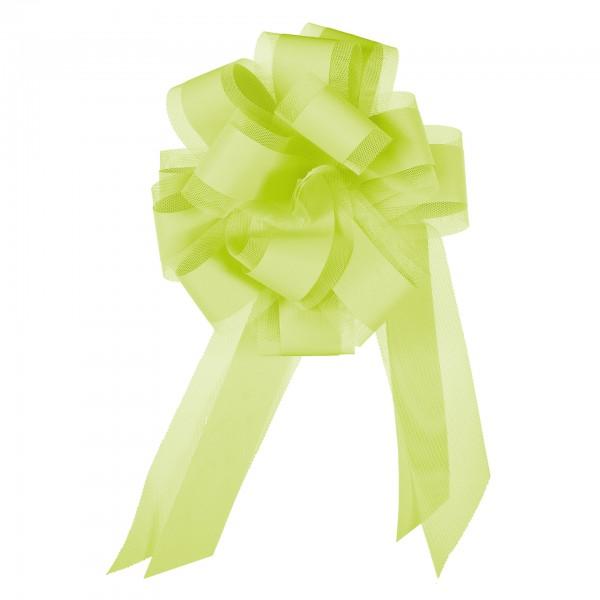 Ziehschleife mit Tüll, Ø 19 cm, grün