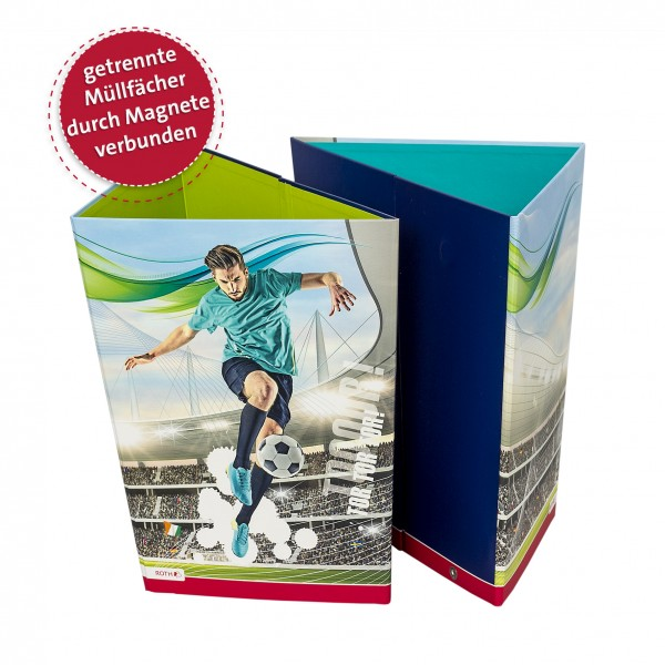 Papierkorb, Fußballstar, 30,5x21,5x28 cm