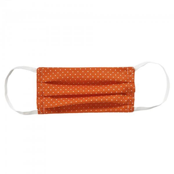 Stoffmaske für Erwachsene - orange mit Punkten