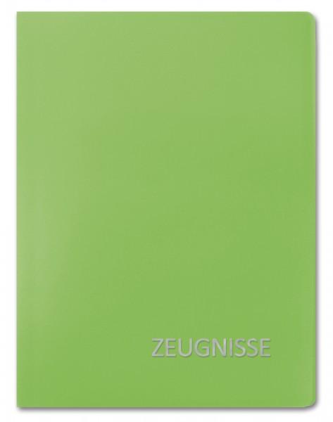 Zeugnismappe Basic, A4, 20 Einlagen, Grün