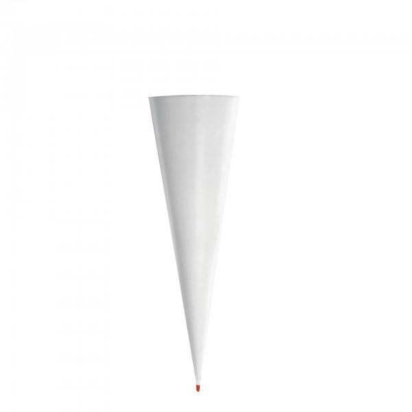 Rohling grau, ohne Verschluss, 70 cm, rund, Rot(h)-Spitze