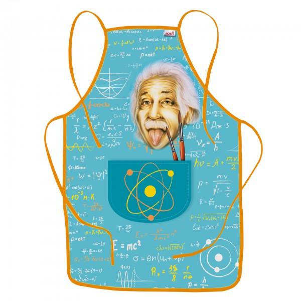 Kinderschürze Einstein, ca. 40x60 cm, zum Malen und Basteln, 100% Polyester