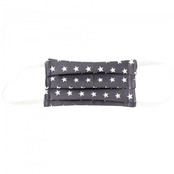 Stoffmaske für Kinder - grau Sterne