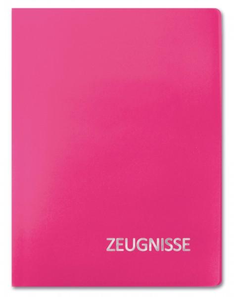 Zeugnismappe Basic, A4, 20 Einlagen, Magenta