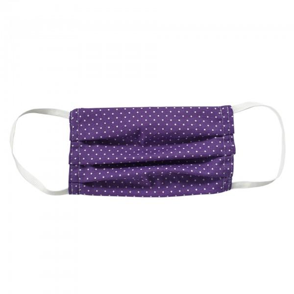 Stoffmaske für Erwachsene - lila mit Punkten