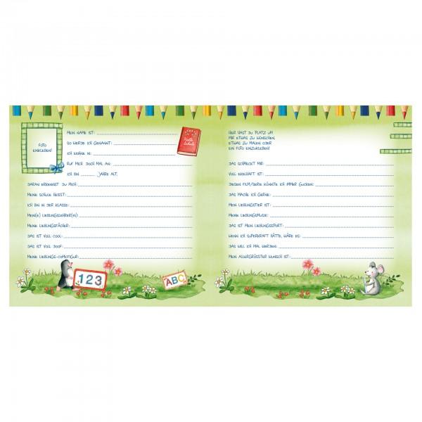 Schulanfangs-Serie Flinki & Schlau, Freundebuch, 16,5x16,5 cm, 64 Seiten
