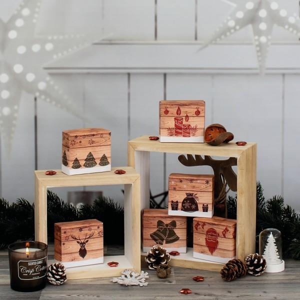 """24 Adventsboxen """"Hygge-Style"""" mit 24 Boxen und Zahlenetiketten 1-24"""