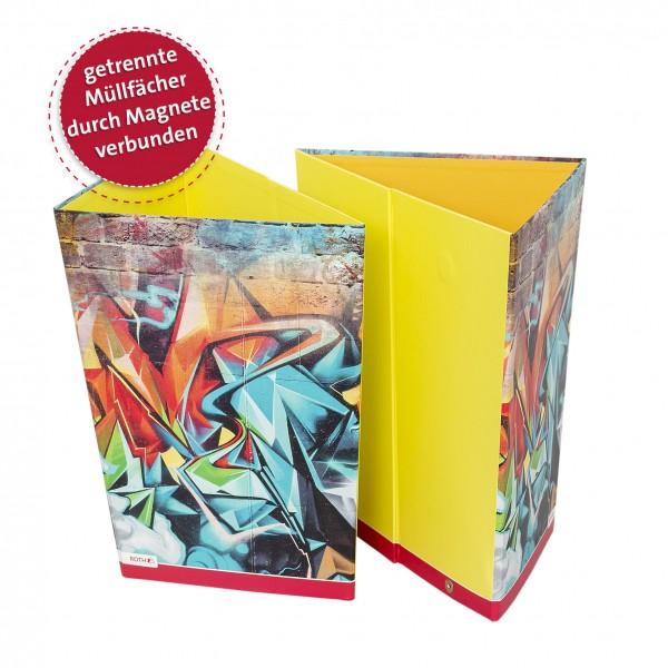 Papierkorb, Graffiti, 30,5x21,5x28 cm