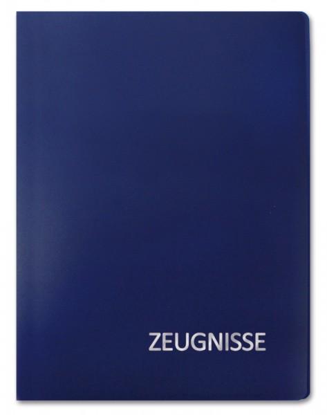 Zeugnismappe Basic, A4, 20 Einlagen, Blau
