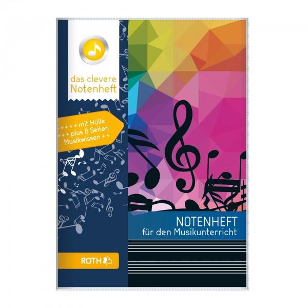 Roth-Notenheft Notenschlüssel blau - A5
