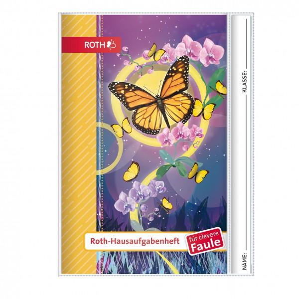 Roth-Hausaufgabenheft Schmetterling für clevere Faule - A5