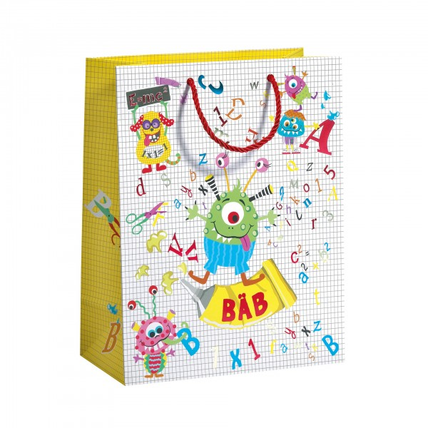 "Geschenktasche ""ABC Monster"" groß, 33,5x13,5 cm"