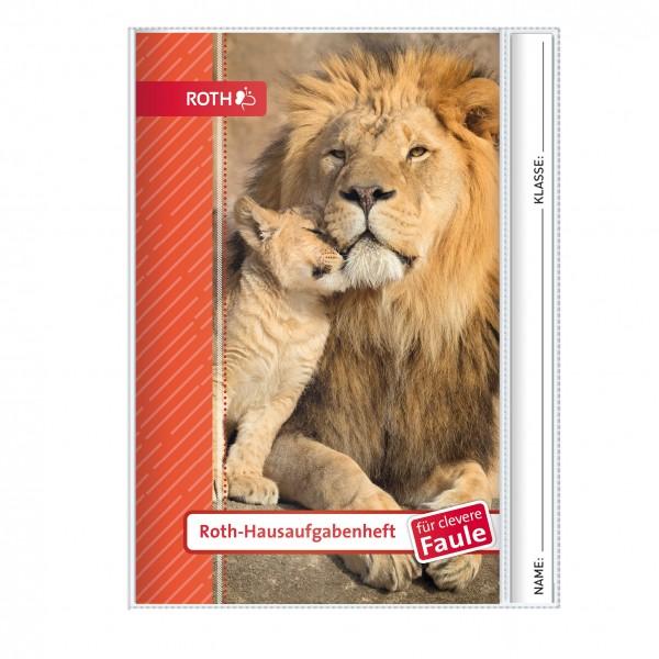 Roth-Hausaufgabenheft Löwe für clevere Faule - A5
