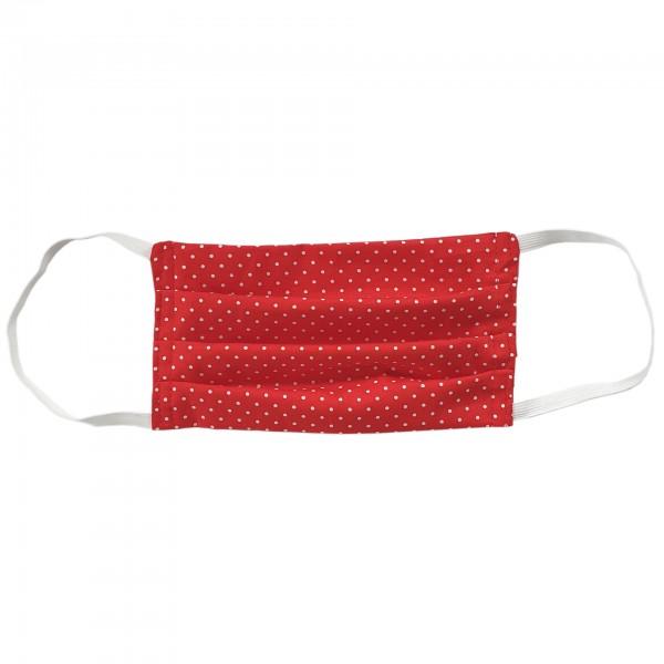 Stoffmaske für Erwachsene - rot mit Punkten