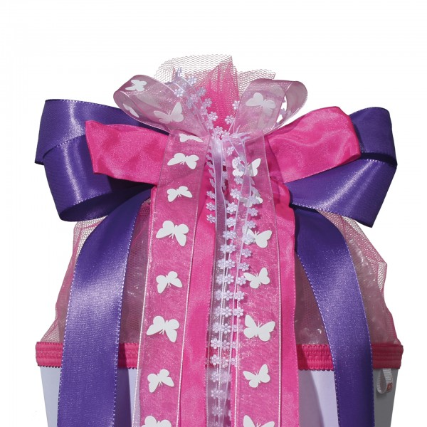 "Schleife ""Purple Rain"", ca. 50x23 cm, 100% Polyester"