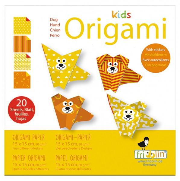 Kids Origami; Hund