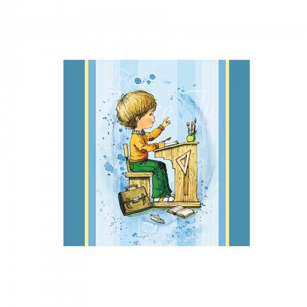 Servietten Mein Schulstart, blau, 33x33 cm, 20 Stück pro Packung, zum Schulanfang