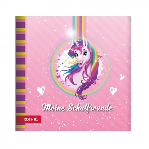 Schulanfangs-Serie Einhornportrait, Freundebuch, 16,5x16,5 cm, 64 Seiten
